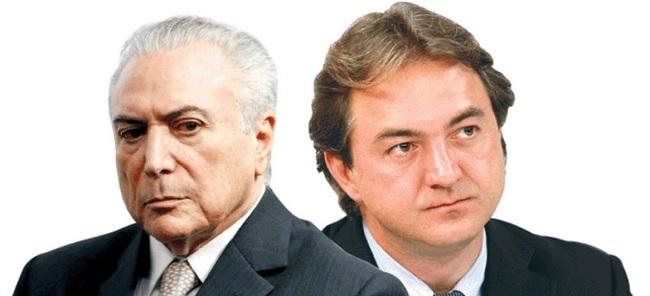 Presidente Michel Temer e o empresário Joesley Batista