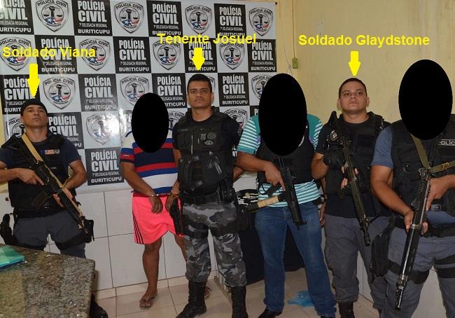 Soldado Tiago Viana, Tenente Josuel e o Soldado Glaydstone