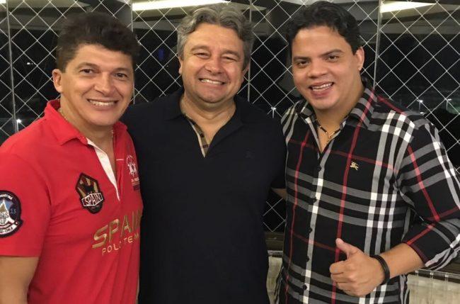 Ex-deputado Marcos Caldas, Dr. Liorne e Luciano Genésio