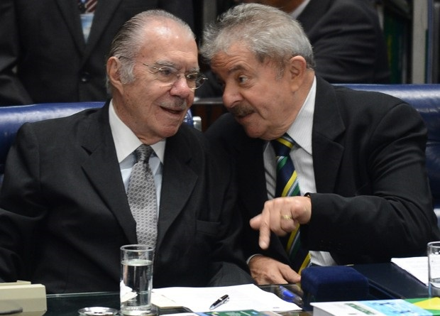 José Sarney e Lula no Senado