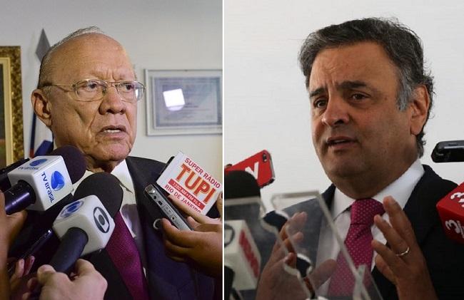 Senadores João Alberto e Aécio Neves