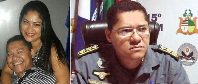 Tenente Coronel Miguel Gomes e a esposa