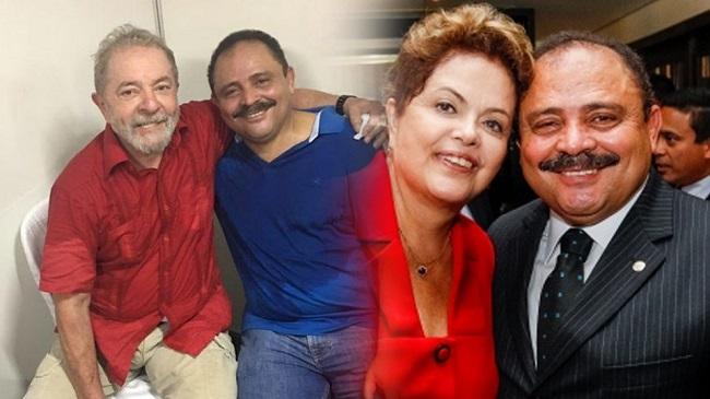 Waldir Maranhão em dois momentos: um com Lula e outro com Dilma Rousseff