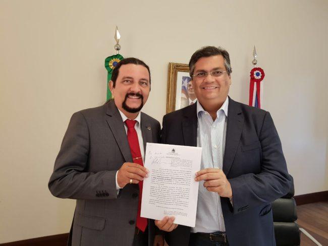 Deputado Júnior e o governador Flávio Dino