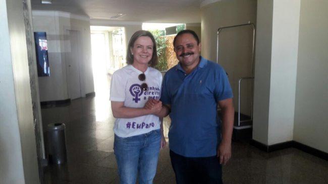 Senadora Gleisi Hoffmann e o deputado Waldir Maranhão em São Luis-MA
