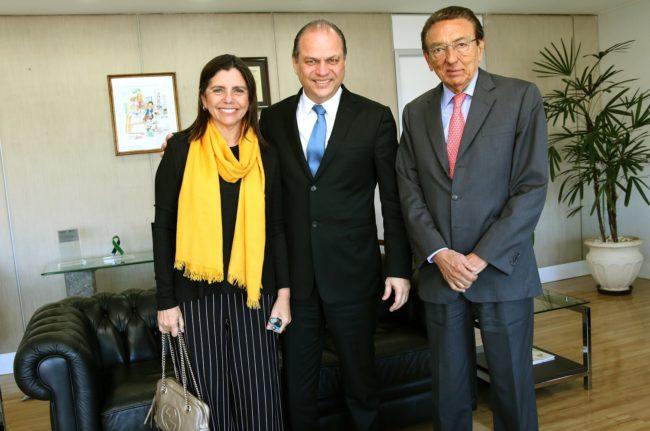 Roseana, Ricardo Barros e Edison Lobão em Brasília