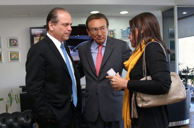 Ricardo Barros, Edison Lobão e Roseana Sarney durante reunião em Brasília