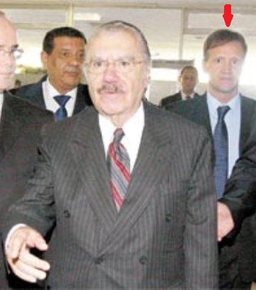 Aluísio Mendes na época que fazia a segurança de Sarney