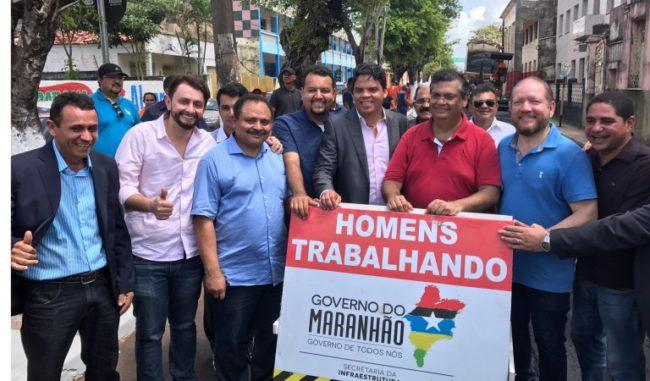 Governo Flávio Dino, prefeito Luciano Genésio, Waldir Maranhão e a equipe de governo