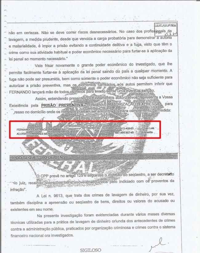 PF já pediu prisão de Fernando Sarney e Aluísio Mendes