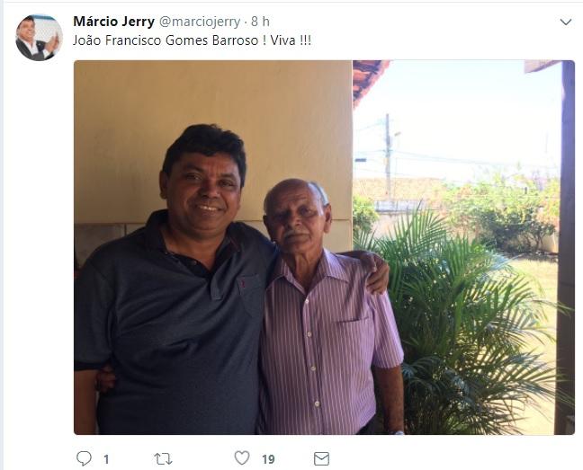 Márcio Jerry ao lado do pai