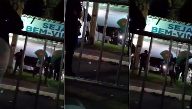 Momento em que segurança leva tiro no show de Safadão