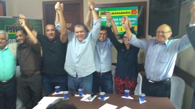 Cúpula do grupo Sarney durante encontro do PMDB em São Luís