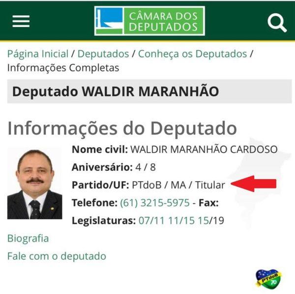Waldir Maranhão é Avante agora
