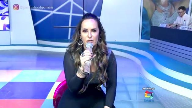 Apresentadora Paulinha Lobão