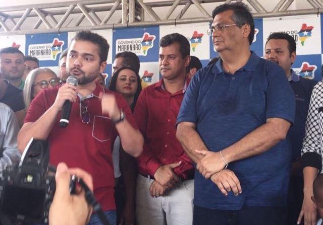 Deputado Ricardo Rios e o governador Flávio Dino