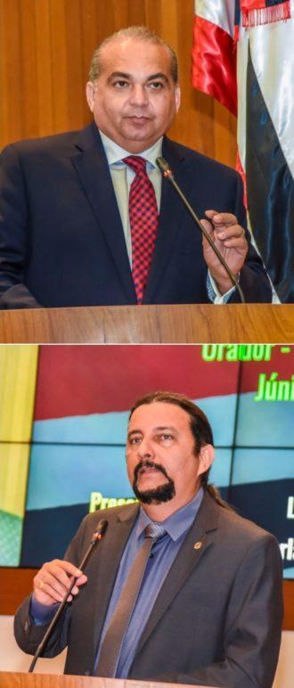 Deputados Fábio Braga e Júnior Verde