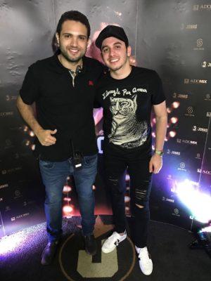 Empresário Kleber Moreira e o cantor Jonas Esticado