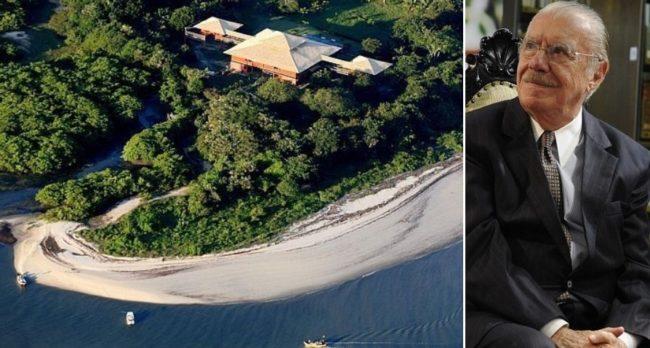 Ilha do ex-presidente José Sarney no Maranhão