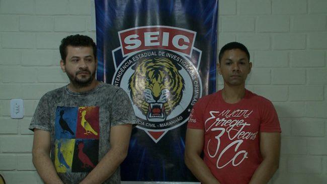 Oziel Frankilin Estrela e Alessandro Saraiva Gomes foram presos pela Polícia Civil em São Luís