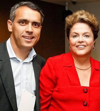 Secretário Márcio Jardim e a ex-presidente Dilma Rousseff