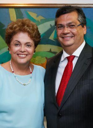 Dilma e Flávio Dino