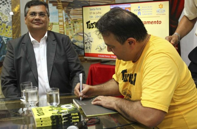 Flávio Dino prestigiou lançamento de livro de Ney Bello
