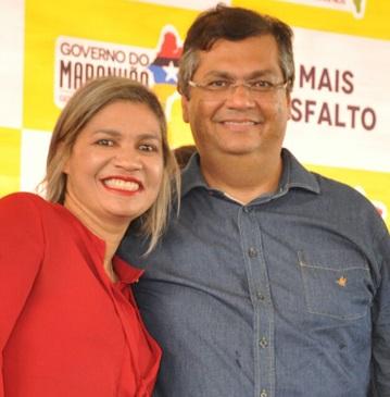 Rosângela Curado e Flávio Dino