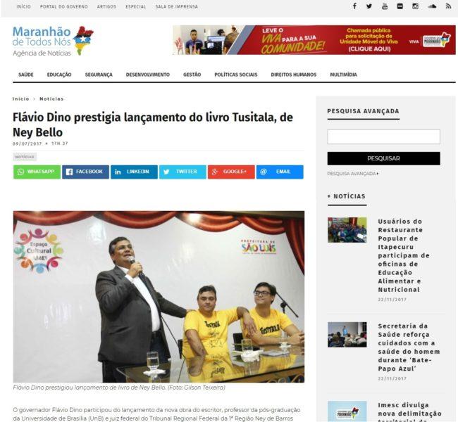 Site do governo destaca lançamento de livro do desembargador federal Ney Bello