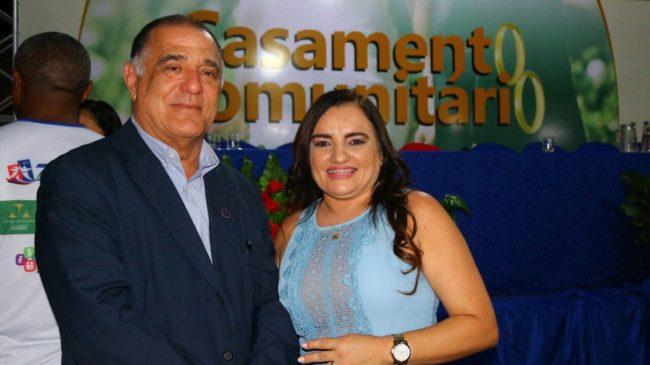 Desembargador Jorge Rachid e a prefeita Josinha Cunha