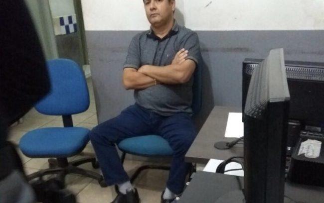 Júnior do Nenzim na delegacia de Barra do Corda (Foto O Informante)