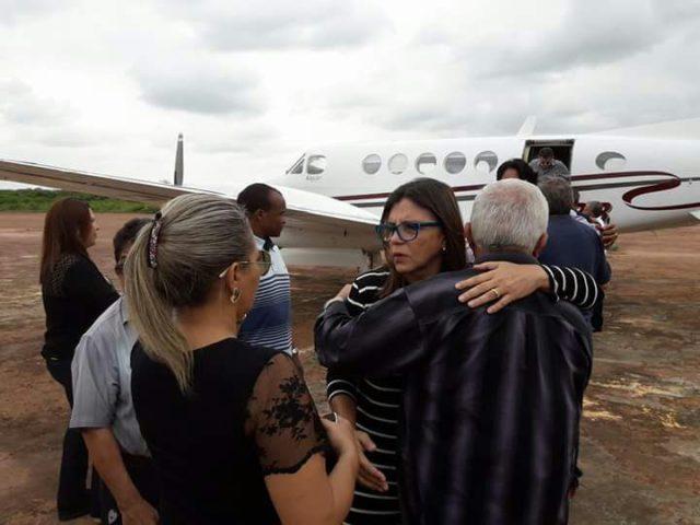 Roseana Sarney chegando em Barra do Corda