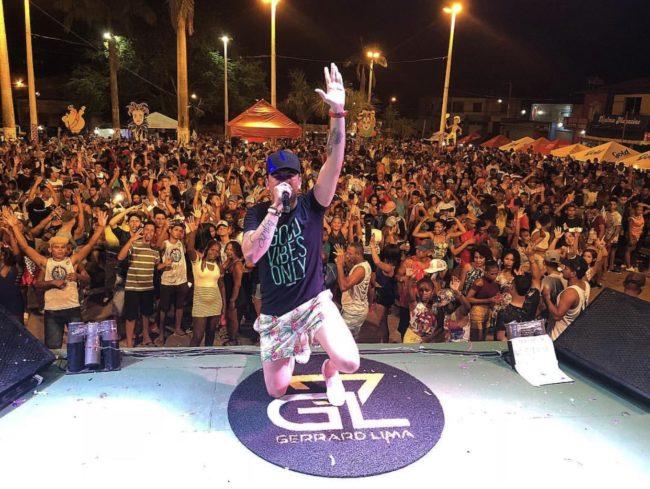 Cantor Gerrard Lima no carnaval de Matinha-MA