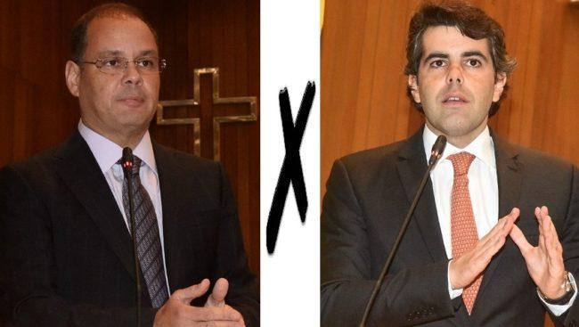 Deputados Rogério Cafeteira e Adriano Sarney