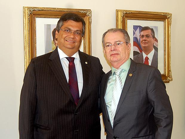 Governador Flávio Dino e o deputado Levi Pontes