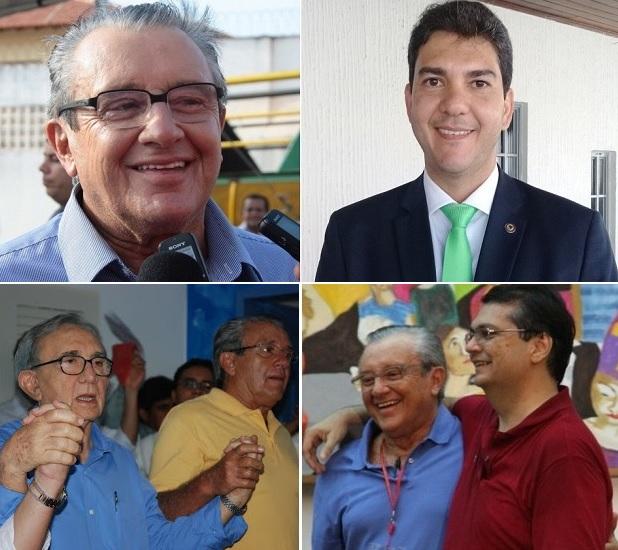 Zé Reinaldo ao lado de Eduardo Braide, Jackson Lago e Flávio Dino