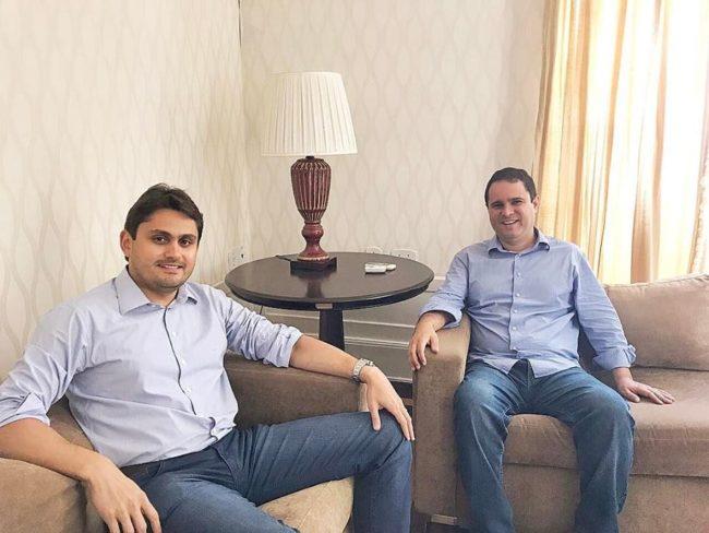 Juscelino Filho e Edivaldo Holanda Júnior na Prefeitura de São Luís-MA