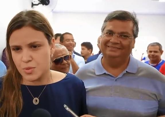 Prefeita Luanna Rezende e o governador Flávio Dino