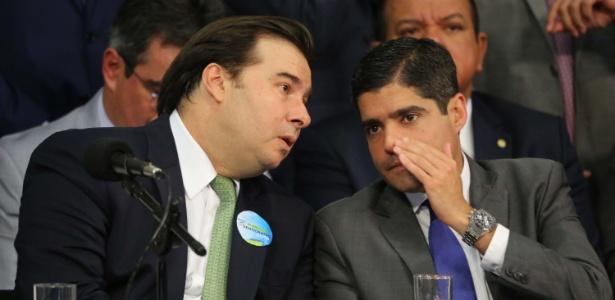 Presidente da Câmara, Rodrigo Maia, e o prefeito de Salvador, ACM Neto