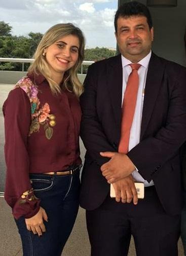 Vereadora Aureamélia ao lado do marido Adelmo Soares