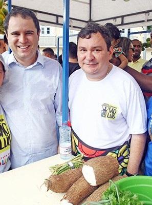 Edivaldo Holanda Jr. e Ivaldo Rodrigues na feirinha