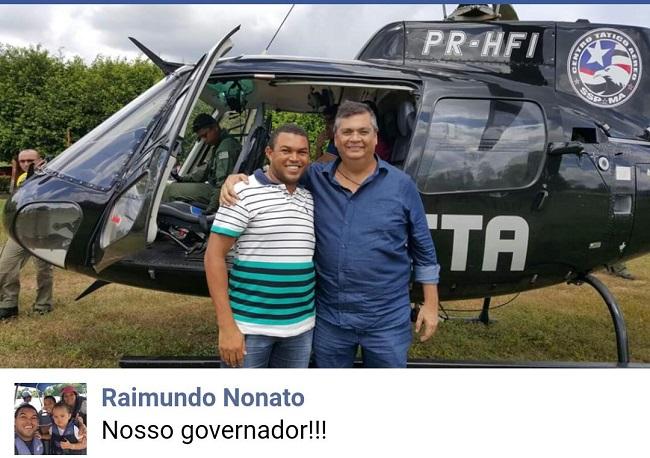 Empresário Raimundo Nonato e o governador Flávio Dino
