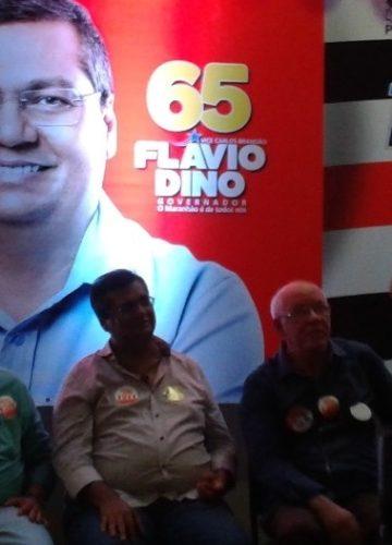 Flávio Dino recebendo apoio de Edson Araújo em 2014