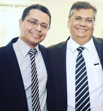 Secretário Carlos Lula e o chefe Flávio Dino