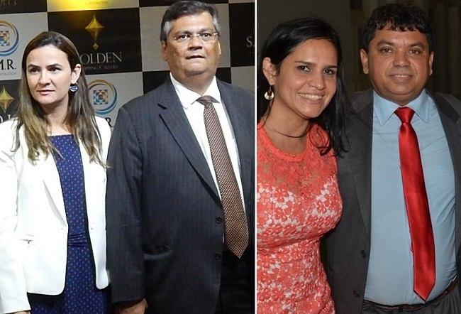 Primeira-dama Daniela Lima, governador Flávio Dino, Lene Rodrigues e o marido Márcio Jerry