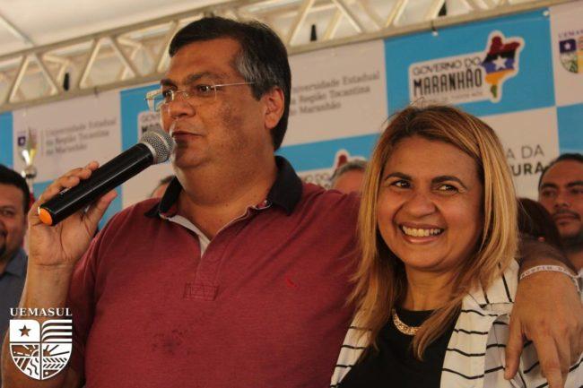 Flávio Dino e Rosirene Matos