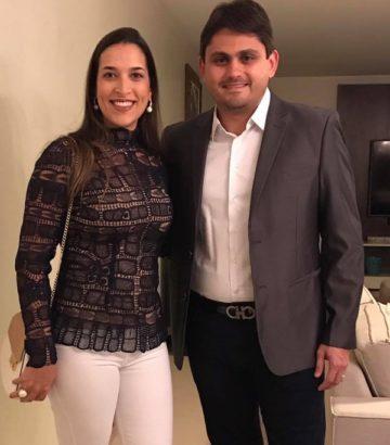 Lia Fialho e o marido deputado Juscelino Filho