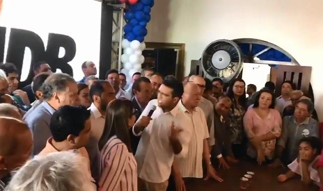 Prefeito Lahesio Rodrigues detona Flávio Dino em reunião na casa de Sarney