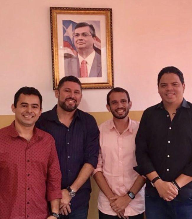 Prefeito Eric Costa, secretário Hernando Macedo, pré-candidato a deputado Fernando Pessoa e o prefeito Luciano Genésio