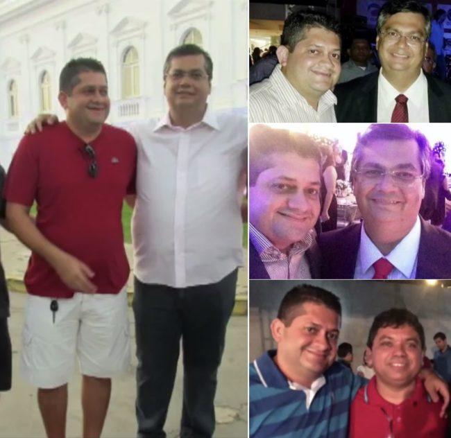 Carlos Alberto em vários momentos com Flávio Dino e Márcio Jerry